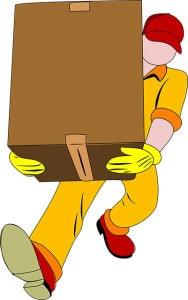 verhuizen   verhuizer met grote doos