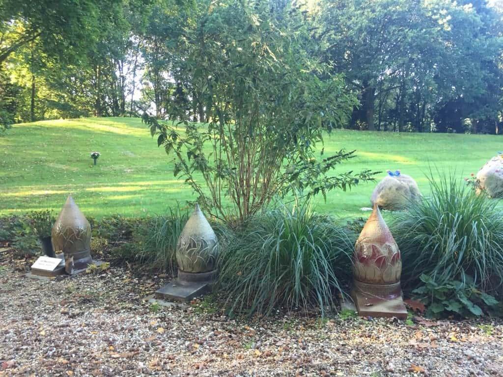 Urnen tuin Jonker Bos Nijmegen