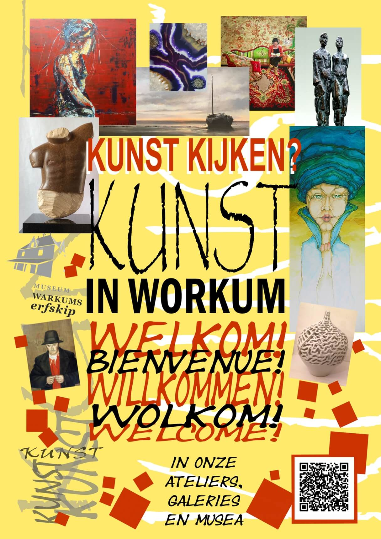 flyer Kunst in Workum 2019